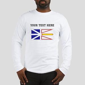 Custom Newfoundland Flag Long Sleeve T-Shirt