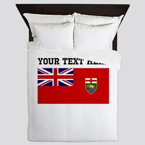 Custom Manitoba Flag Queen Duvet