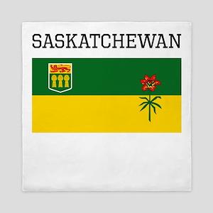 Saskatchewan Flag Queen Duvet