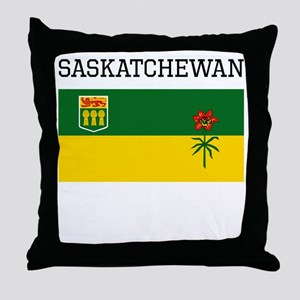 Saskatchewan Flag Throw Pillow
