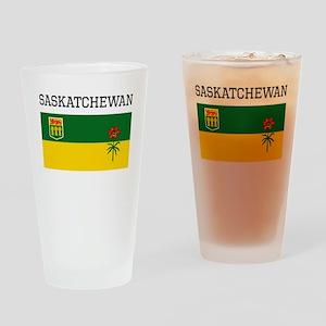 Saskatchewan Flag Drinking Glass