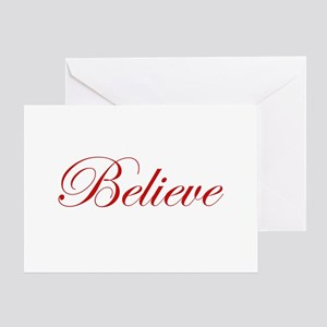 Red Believe Greeting Card