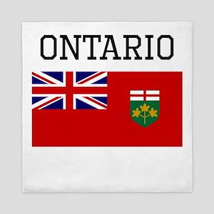 Ontario Flag Queen Duvet