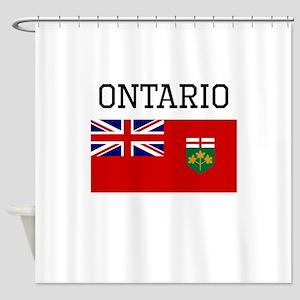 Ontario Flag Shower Curtain