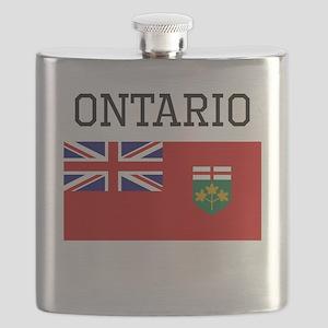 Ontario Flag Flask