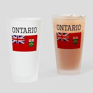 Ontario Flag Drinking Glass