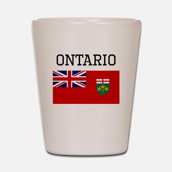 Ontario Flag Shot Glass