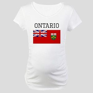 Ontario Flag Maternity T-Shirt