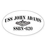USS JOHN ADAMS Sticker (Oval)