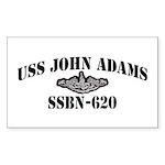 USS JOHN ADAMS Sticker (Rectangle)