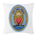 USS JOHN ADAMS Woven Throw Pillow