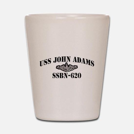 USS JOHN ADAMS Shot Glass