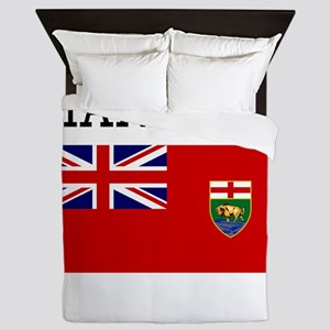 Manitoba Flag Queen Duvet