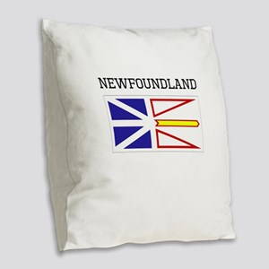 Newfoundland Flag Burlap Throw Pillow