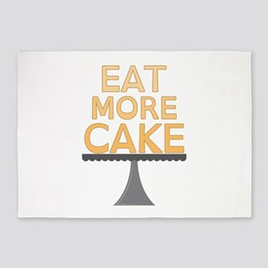 Eat More Cake 5'x7'Area Rug