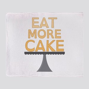 Eat More Cake Throw Blanket