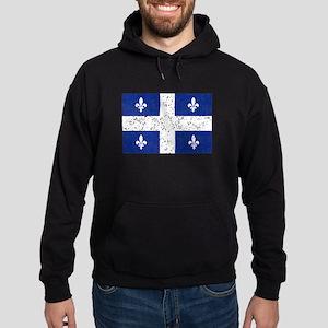 Worn Quebec Flag Hoodie