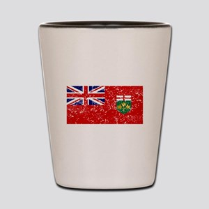 Worn Ontario Flag Shot Glass