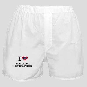 I love New Castle New Hampshire Boxer Shorts