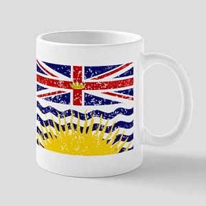 Worn British Columbia Flag Mugs