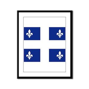 Quebec Flag Framed Panel Print