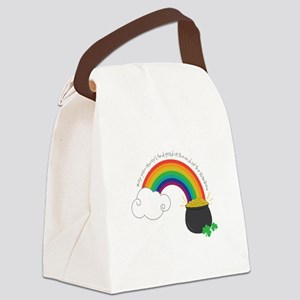 Find Gold Canvas Lunch Bag