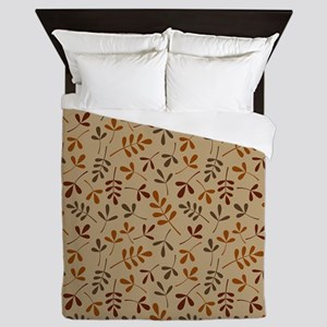 Leaves II Rpt Ptn (Fall) Queen Duvet