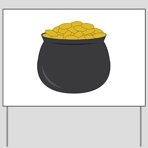 Pot of Gold Yard Sign