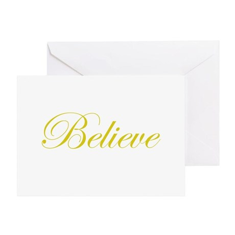 Gold Believe Greeting Card