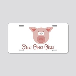 Pig Oink Aluminum License Plate