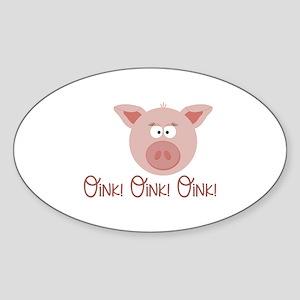 Pig Oink Sticker