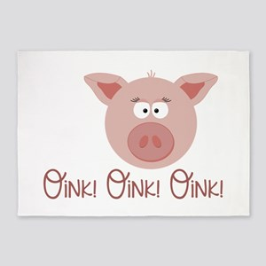 Pig Oink 5'x7'Area Rug