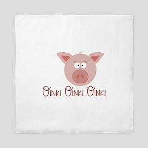 Pig Oink Queen Duvet