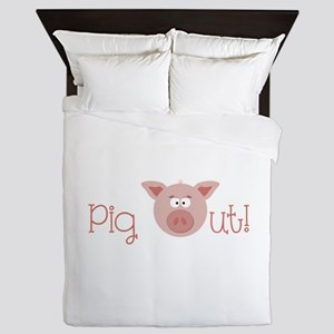 Pig Out Queen Duvet