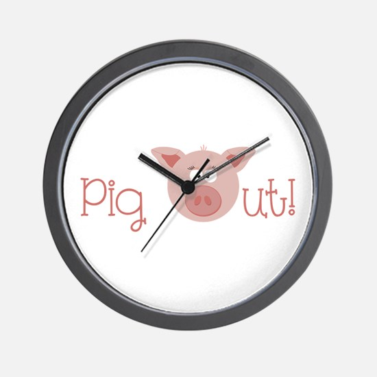 Pig Out Wall Clock