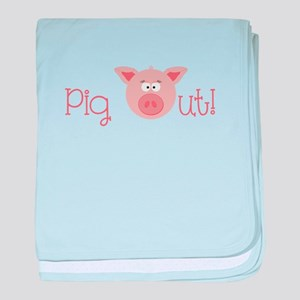 Pig Out baby blanket