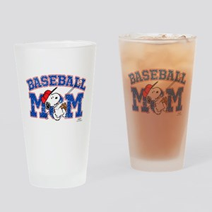 Snoopy Baseball Mom Drinking Glass