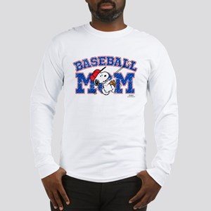 Snoopy Baseball Mom Long Sleeve T-Shirt