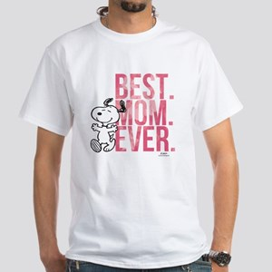Snoopy Best Mom Ever White T-Shirt