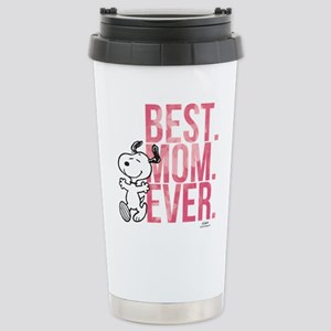 Snoopy Best Mom Ever Stainless Steel Travel Mug