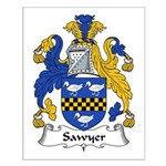 Sawyer Family Crest Small Poster