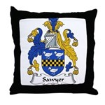 Sawyer Family Crest Throw Pillow