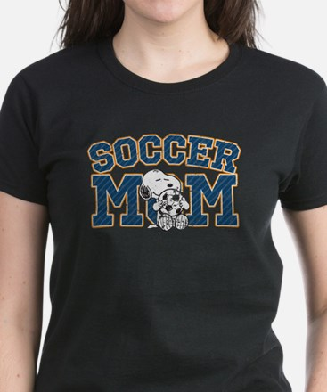 Snoopy Soccer Mom Women's Dark T-Shirt