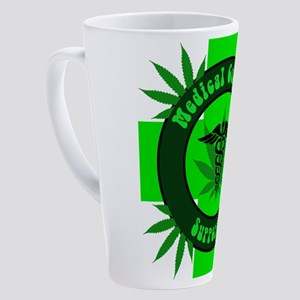 Medical Cannabis Supporter 17 oz Latte Mug
