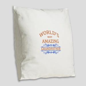Grandfather Burlap Throw Pillow