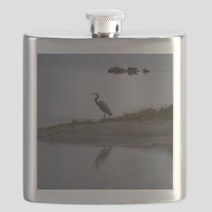 Great Blue Heron Flask
