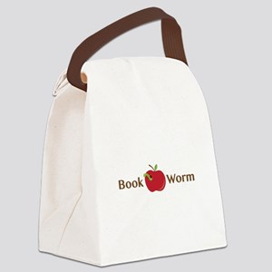 Book Worm Canvas Lunch Bag