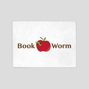 Book Worm 5'x7'Area Rug