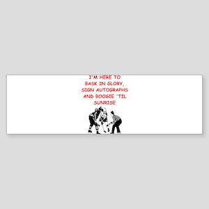 hockey joke Bumper Sticker