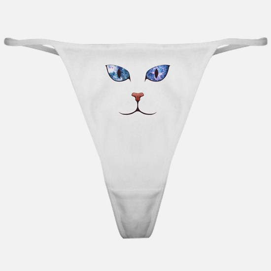 Blue Eyes Space Cat Classic Thong